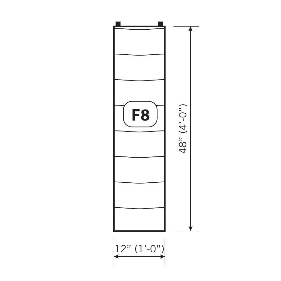 Florafelt 8-Pocket Vertical Garden Planter