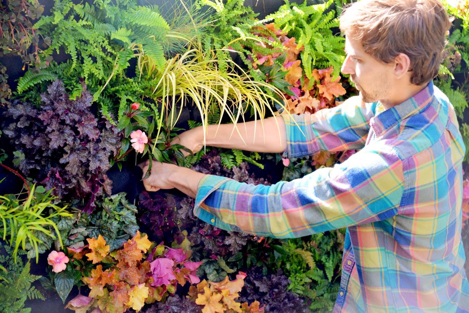Florafelt Vertical Garden. Designer: Brandon Pruett, Living Green