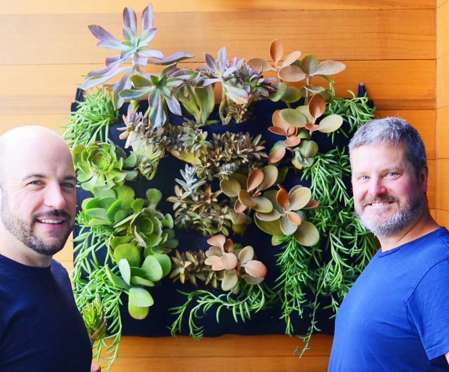 Florafelt 12-pocket vertical garden by Chris and Gary in San Francisco