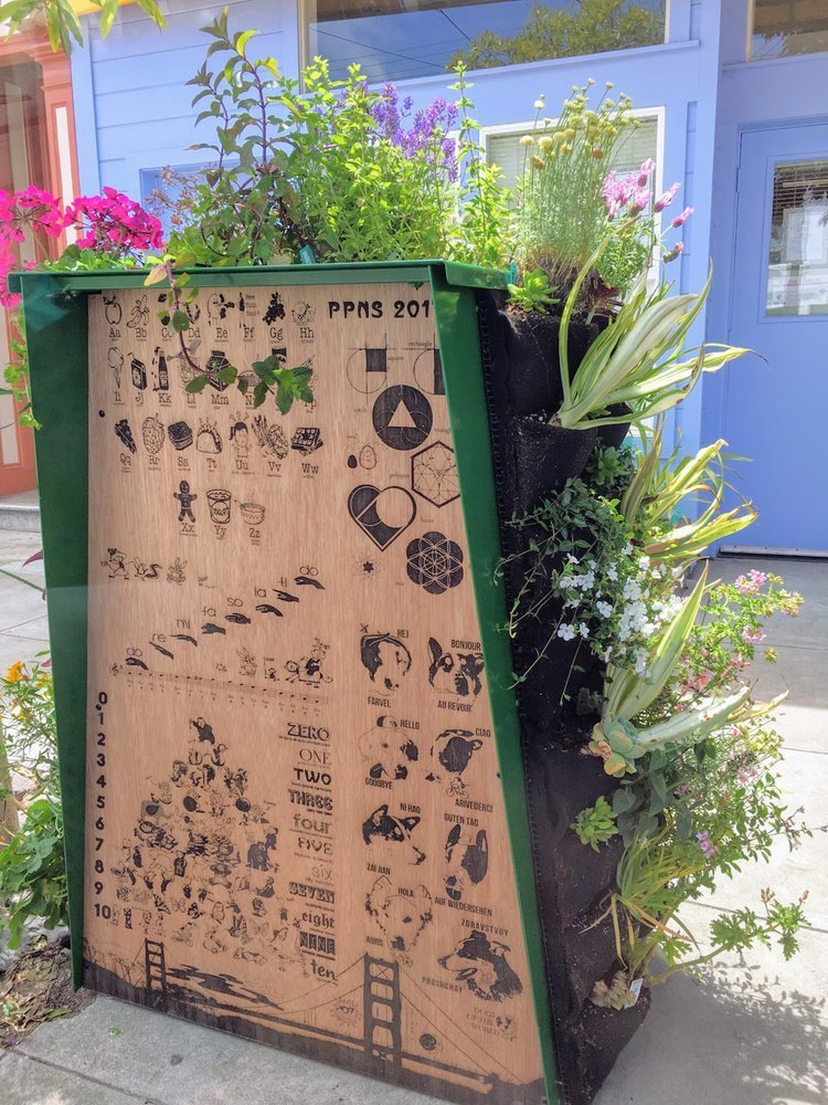This little free library is adorable enough then add a mini vertical garden 4 plants on walls - Vertical gardens miniature oases ...