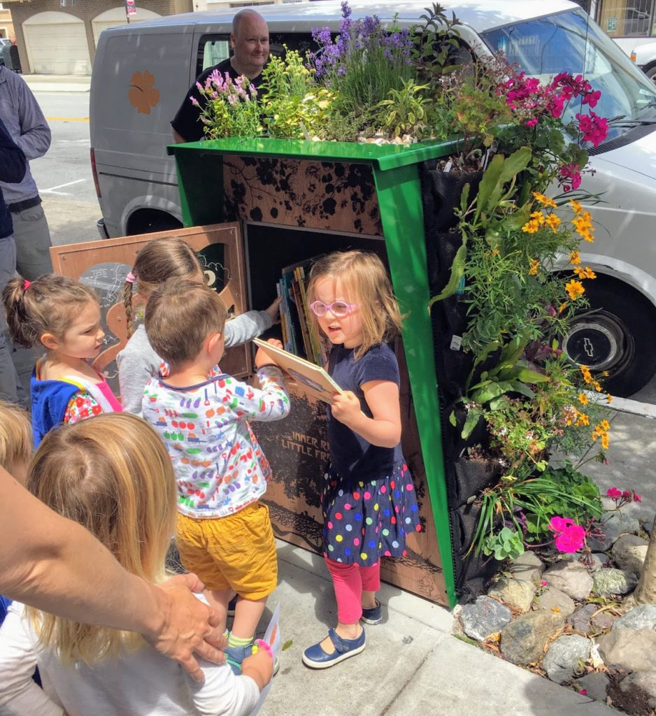 Florafelt Vertical Garden by by Alec Hawley for San Francisco Inner Richmond Little Free Library