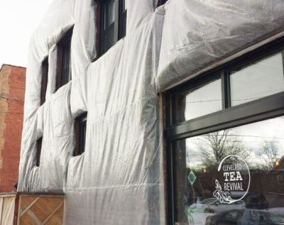 Winter Protection. Florafelt Living Wall by Marika Shiori Clark, Hingetown, Cleveland, Ohio.