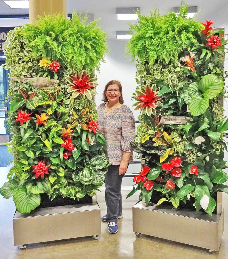 Florafelt Recirc 33 Free-Standing Vertical Gardens by Anita Bohrnerud