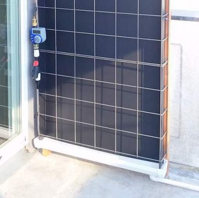 Florafelt Pro System Vertical Garden Drain Tray and Timer Setup