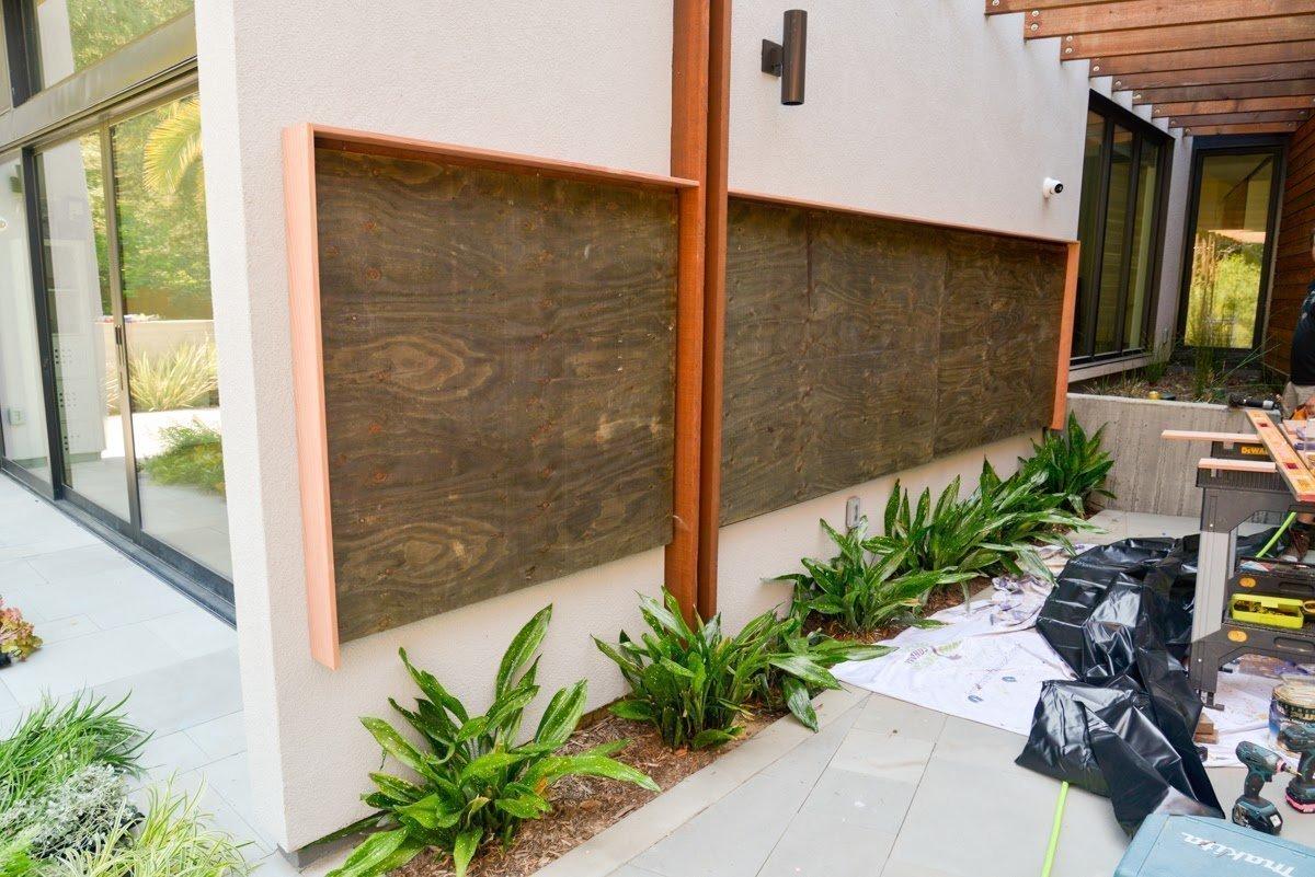 Florafelt Pocket Panel Vertical Garden Installation on Stucco