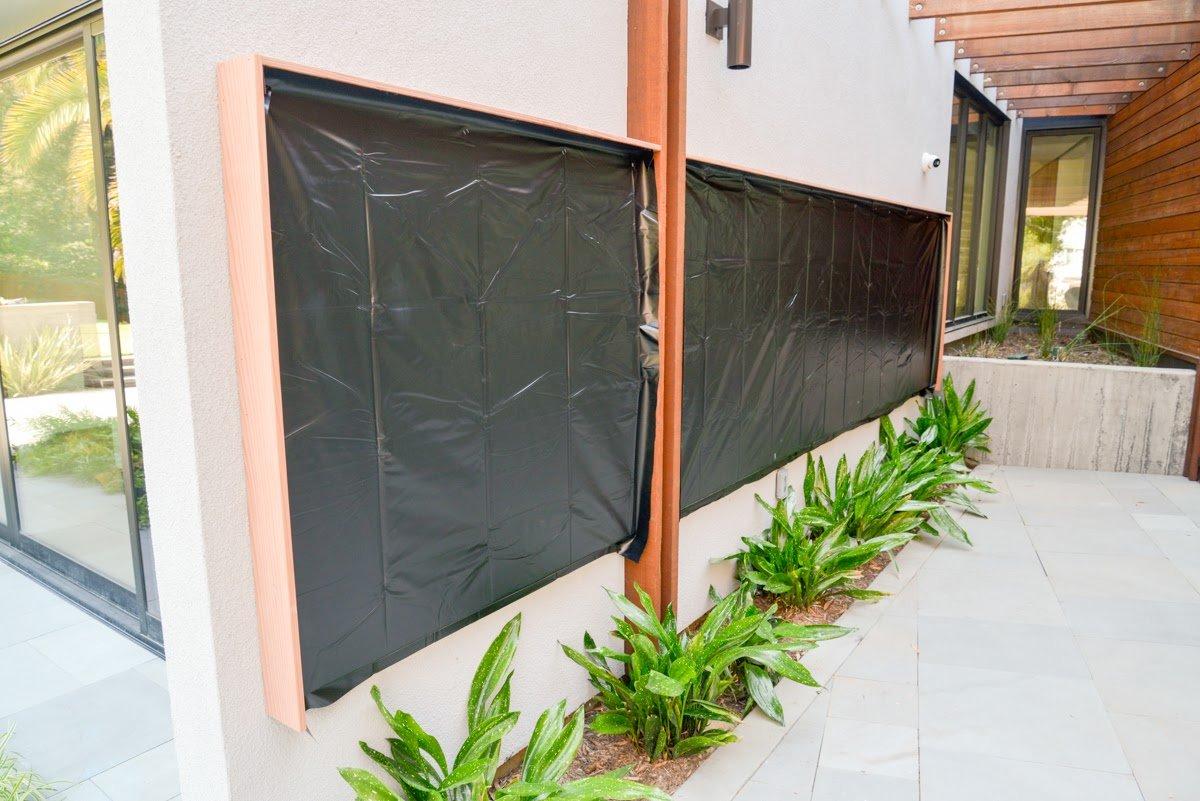 Florafelt pocket panel vertical garden installation on for Vertical garden panels