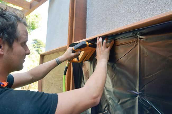 Florafelt® Pockets wood-framed installation.