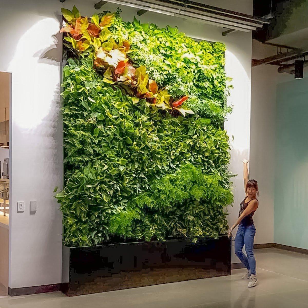 Florafelt Pockets Vertical Garden Installation by Chris Bribach Plants On Walls, San Francisco