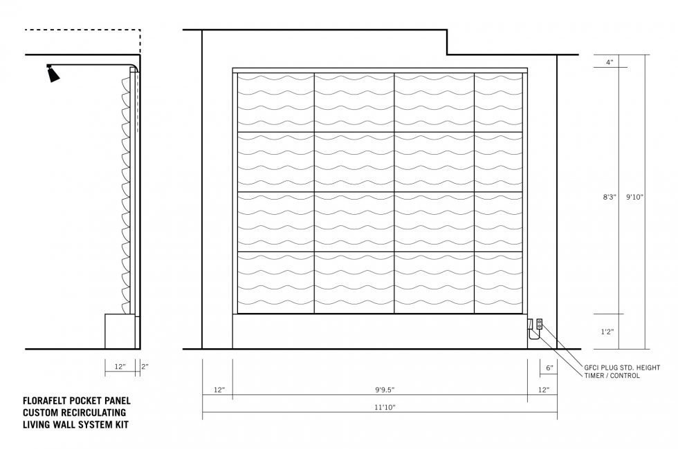 Florafelt Pocket Panel Custom Living Wall Kit.
