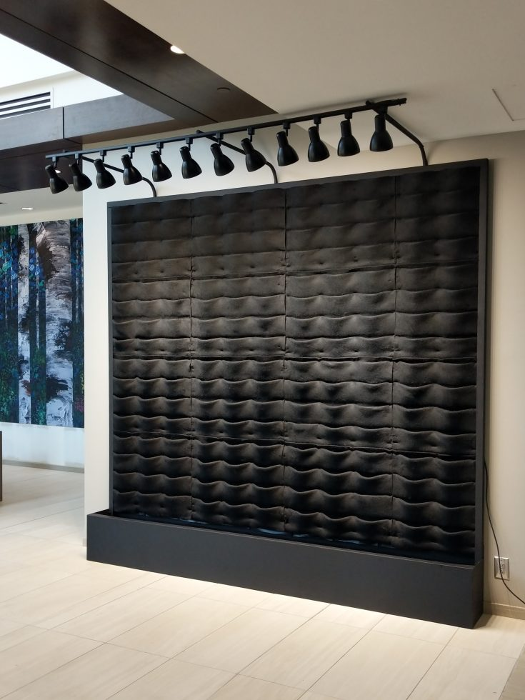 Florafelt Pocket Panel Custom Living Wall System with LED Lighting Kit.